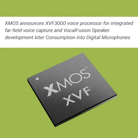 XMOS announces XVF3000 voice processor for integrated far-field voice capture and VocalFusion Speaker development kit