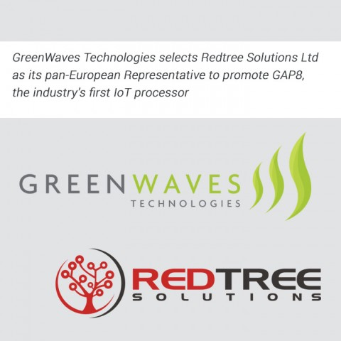 GreenWaves Technologies selects Redtree Solutions Ltd as its pan-European Representative to promote GAP8, the industry's first IoT processor