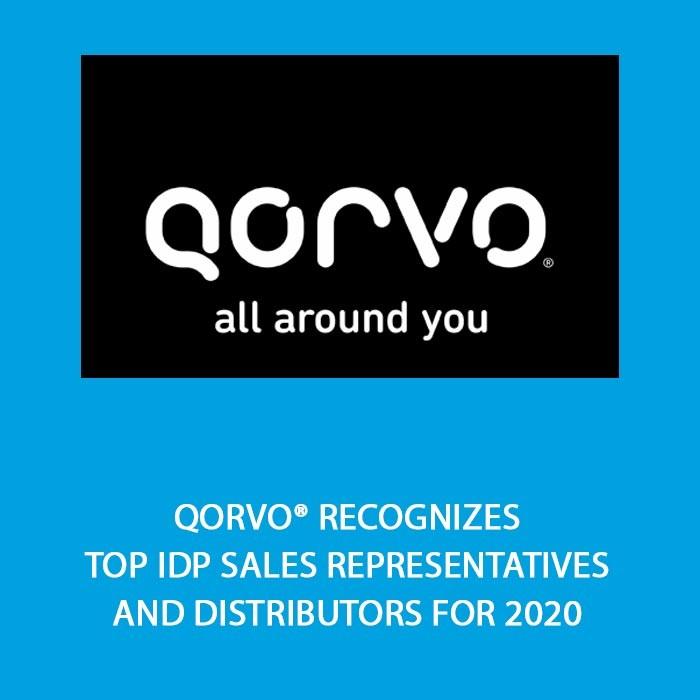 Qorvo® Recognizes Top IDP Sales Representatives and Distributors for 2020