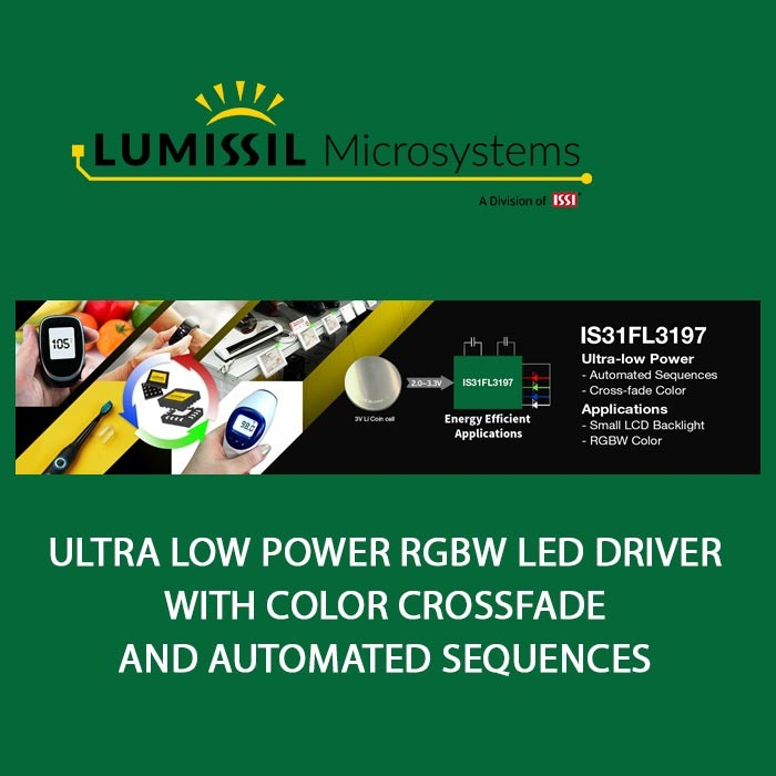 Ultra Low Power RGBW LED Driver with Color Crossfade and Automated Sequences