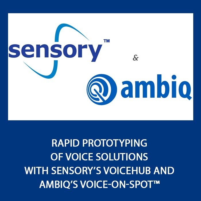 Rapid Prototyping of Voice Solutions with Sensory's VoiceHub and Ambiq's Voice-On-SPOT™